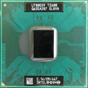 Intel Core Duo T2600 Cache 2mb 2.16ghz 667mhz Fsb Laptop