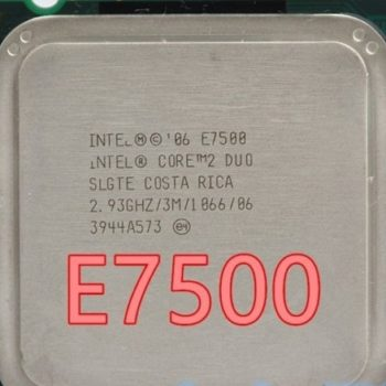Intel Core 2 Duo E7500 Cache 3mb 2,93ghz Lga775