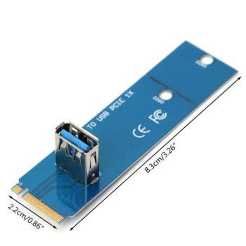 Adaptador Conversor Ngff M.2 Usb 3.0 Mineração Riser