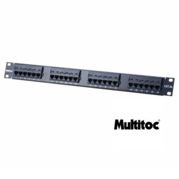 Patch Panel 24 Portas Cat5 Multitoc Semi Novo