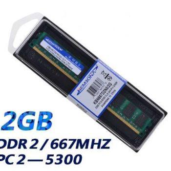 Memória 2gb Ddr2 667mhz Pc2-5300